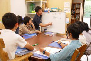 中学生の授業の一場面