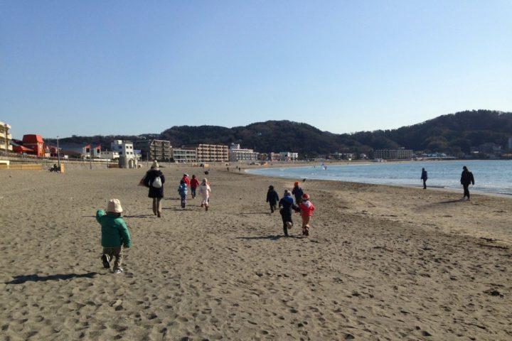 海岸をお散歩