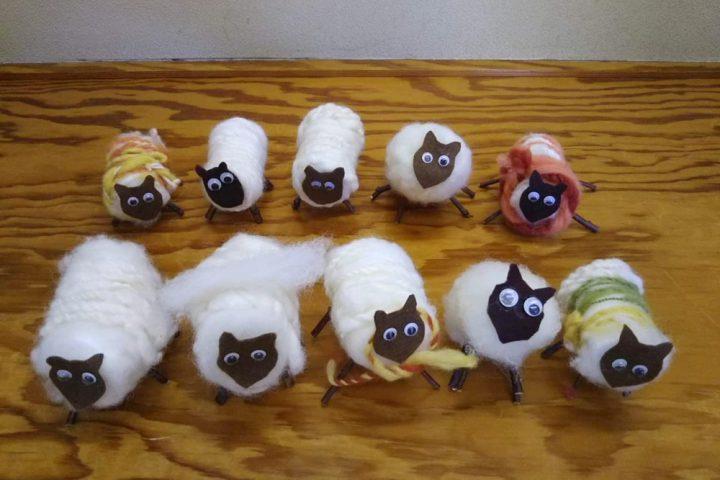 手しごとプログラム「羊毛つむぎと工作」