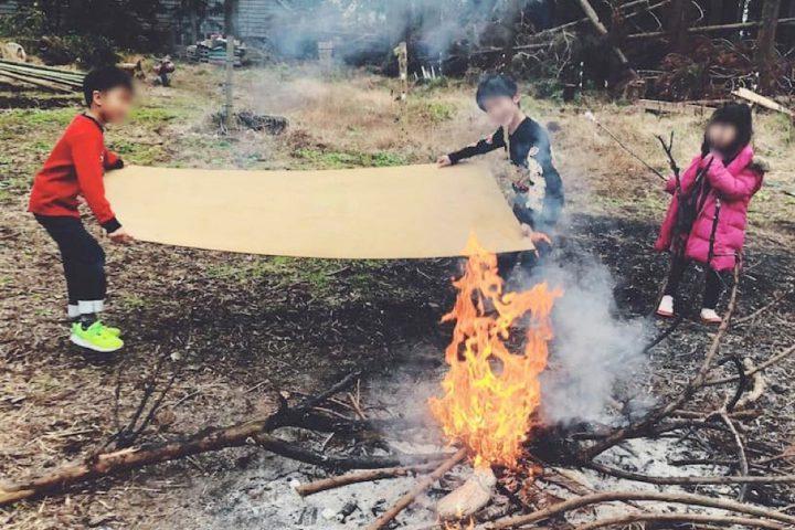 たき火に挑戦